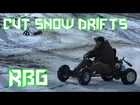 Repeat 670cc Go Kart Snow Rip!!! by Red Beard's Garage