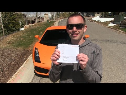 Lamborghini Insurance and Why I don't do my own Maintenance