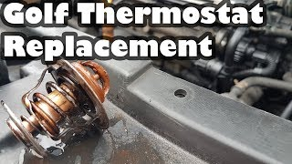 How to replace a Thermostat on a Volkswagen Golf 1.9 TDI - Project Shed