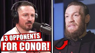 McGregor's coach names 3 OPPONENTS for Conor's UFC return, Joe Rogan on TUF coaches, Colby on Dustin