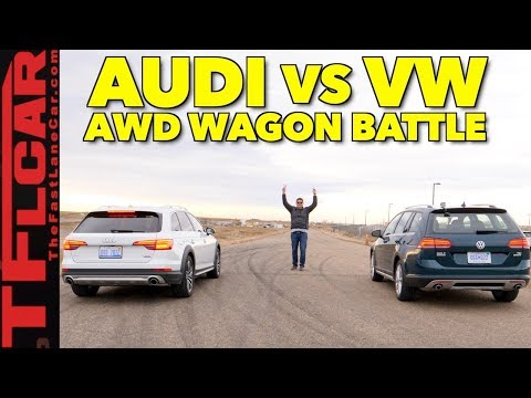 2018 VW Alltrack vs Audi Allroad Drag Race and Gold Mine Hill Mashup Review