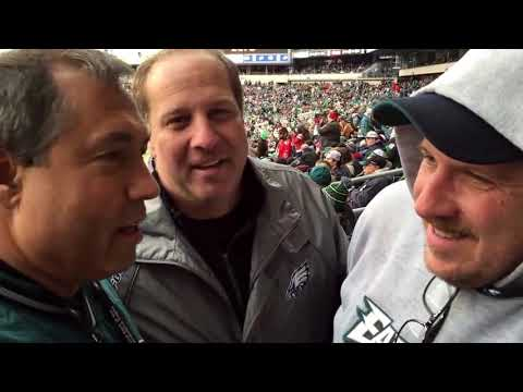 Billy Schweim in the Stands with Disgruntled Eagles Fans 28 - 14 Bucs!
