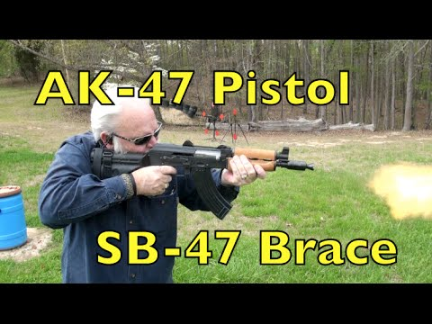 AK 47 Pistol with SB-47 Arm Brace