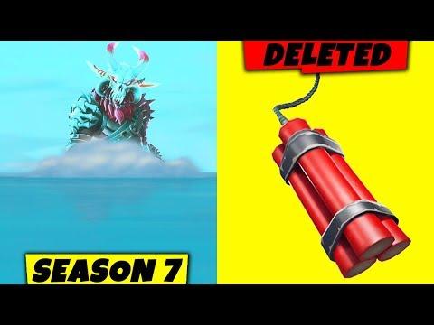 Season 7 SNOWSTORM + Dynamite already DELETED (FORTNITE UPDATE)