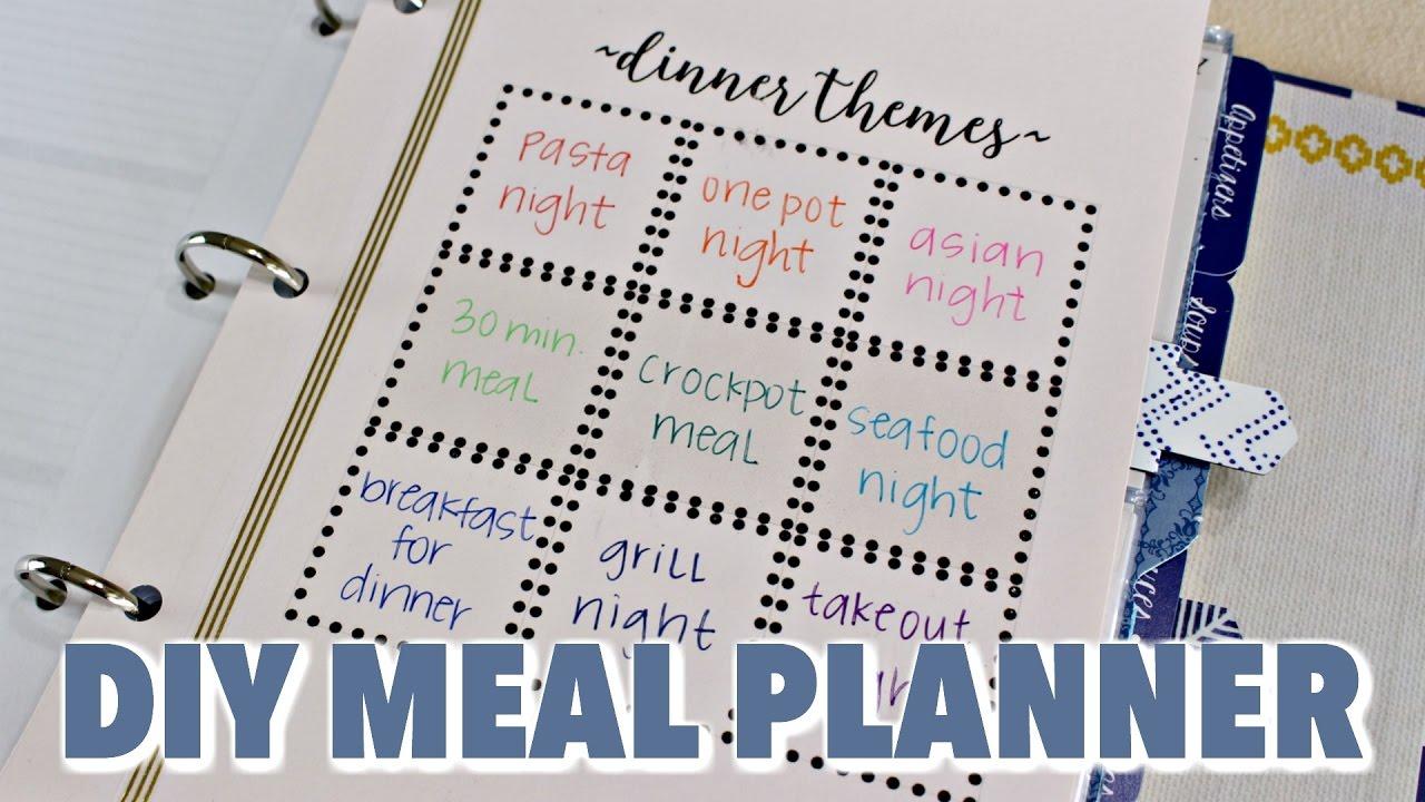 diy meal planner hgtv handmade youtube