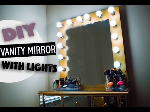 DIY Vanity Mirror With Lights YouTube