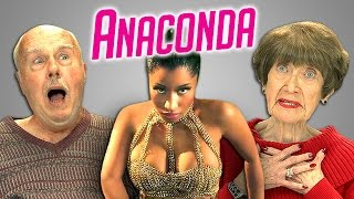 Elders React to Nicki Minaj - Anaconda(Anaconda Bonus video on the REACT channel: http://goo.gl/H9ttjL Watch the REACT REMIX: http://goo.gl/NNk1TS NEW Videos Every Week! Subscribe: ..., 2014-10-23T19:00:03.000Z)
