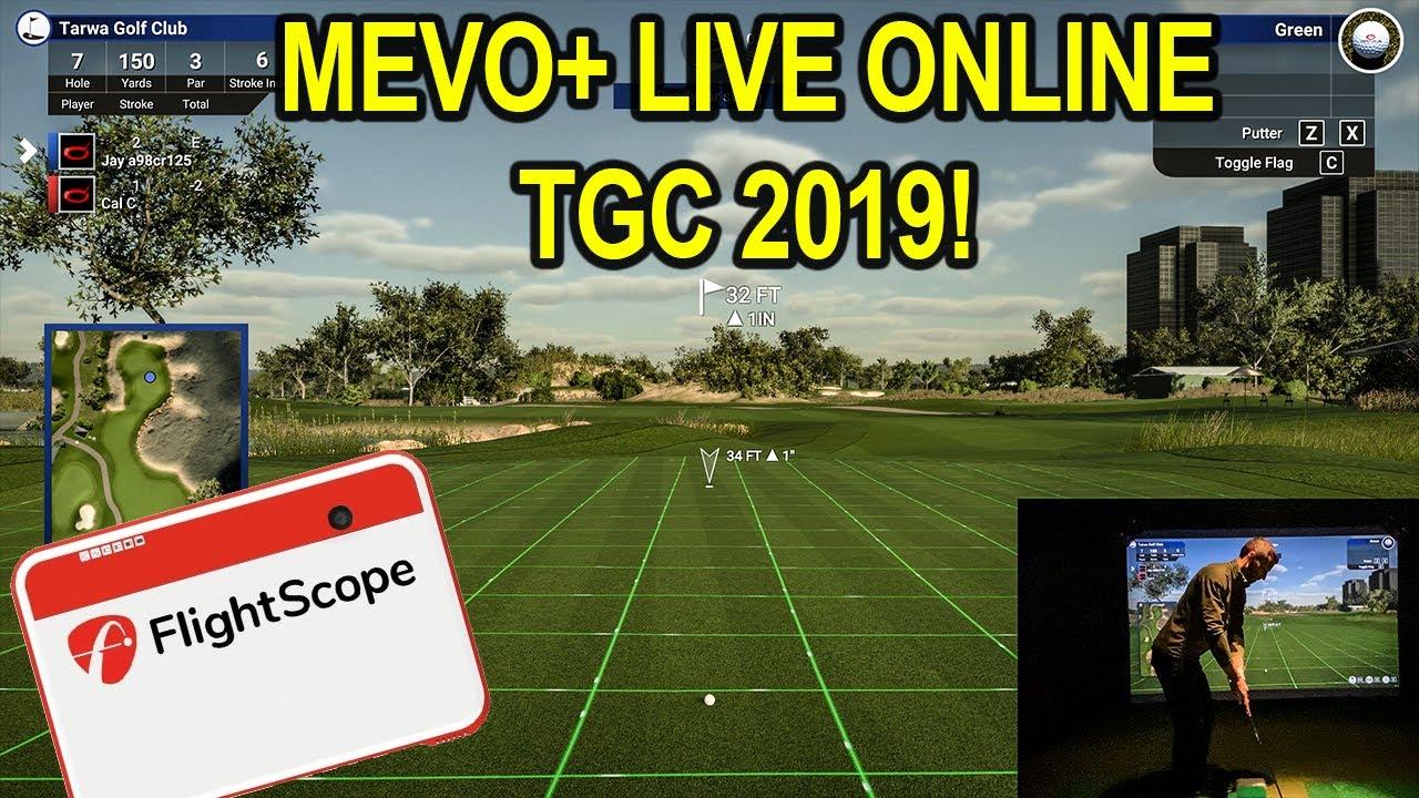 Playing Tgc 2019 On The Flightscope Mevo Simulator Live Online Match Golf Simulator Videos