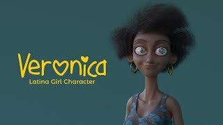 Veronica Latina Girl Character ( blender Rig Demo)