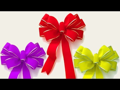How tomake easy paper bow/Ribbon /Easy ribbon for beginners making