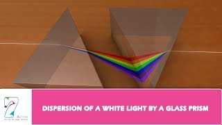 DISPERSION OF A WHITE LIGHT BY A GLASS PRISM