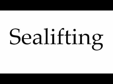How to Pronounce Sealifting