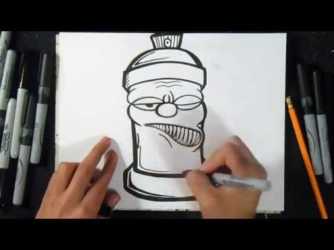 Cómo Dibujar Lata De Spray | Graffiti