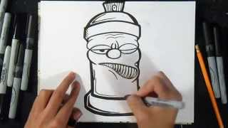 Cómo dibujar Lata de Spray   Graffiti