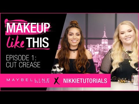 Make Cut Crease Happen Episode 1   Maybelline New York + NikkieTutorials