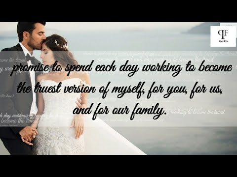 Best Romantic Wedding Vows For Him That WIll Make You Cry | Best Marriage Quotes - PICSFLIX