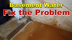 How To Install  Sump Basin and Sump Pump in flooded basement