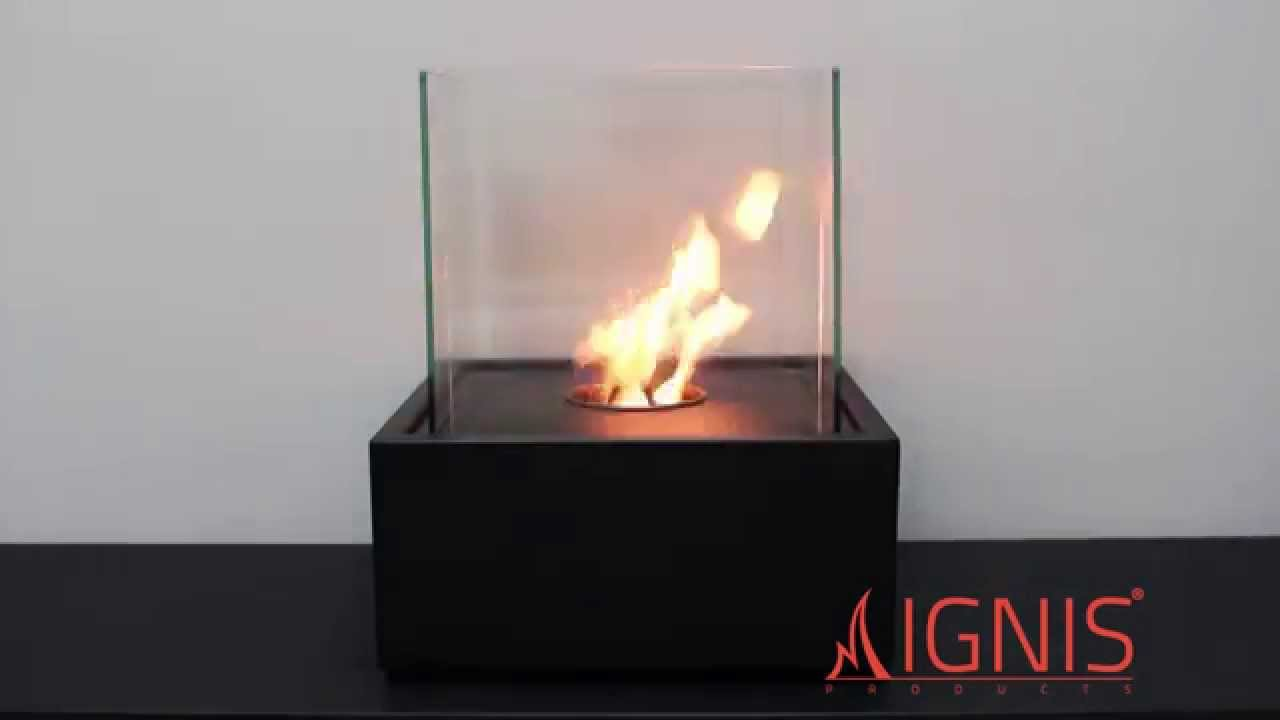 ethanol fireplace cube xl portable ventless fireplace by ignis