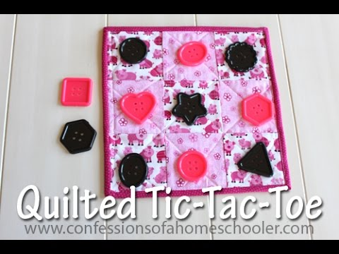 Quilting 101: Quilted Tic-Tac-Toe Game