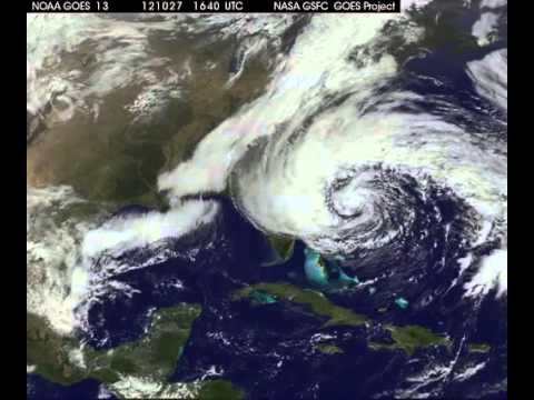 Hurricane Sandy FULL Satellite TIMELAPSE - An Unusual Hurricane Path