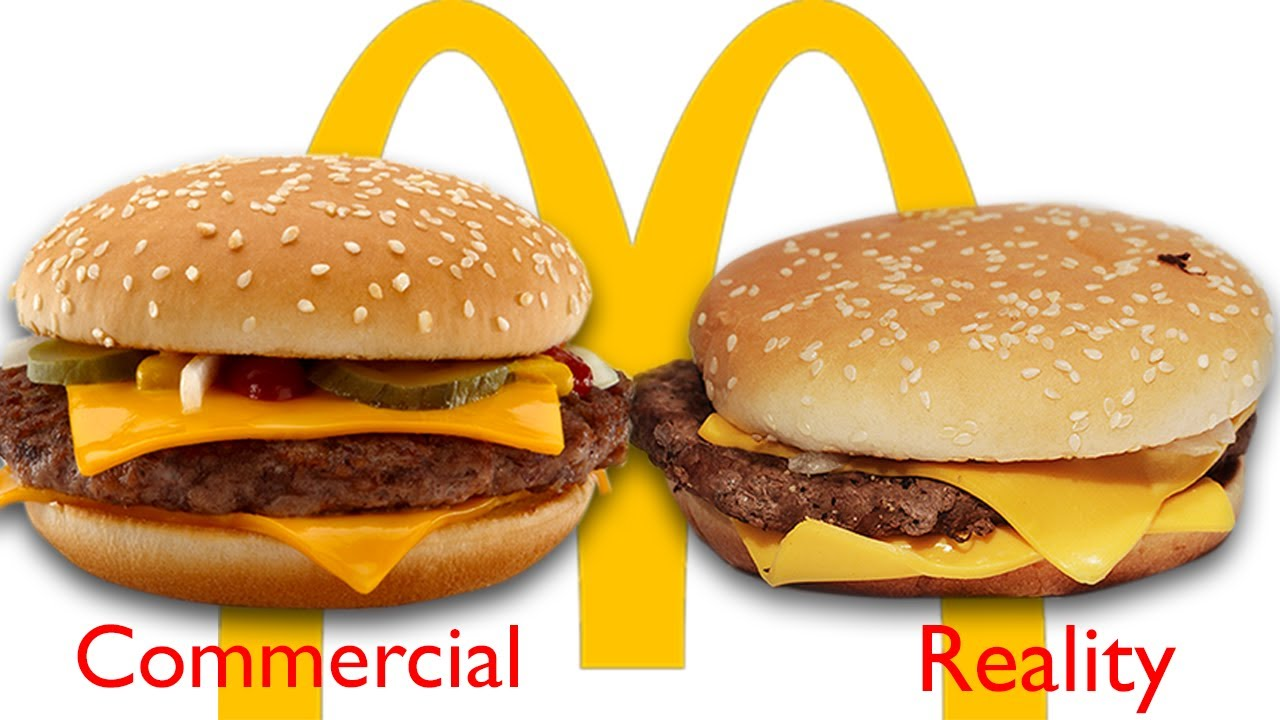 Fast Food Pictures Vs Real Thing