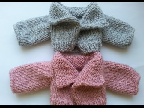 Doll's knit jacket