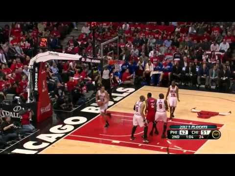 Jrue Holiday Evan Turner Lou Williams combined 65 pts vs Bulls full highlights NBA Playoffs 2012 GM2