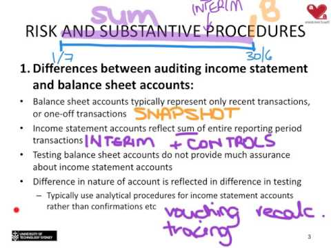 Topic 10 - Substantive testing of income statement accounts
