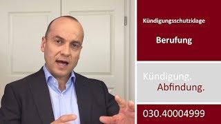 Mandantenvideo: Kündigungsschutzklage IX - Berufung
