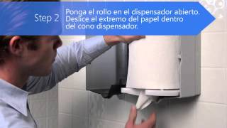 Sofpull® Fluido Céntrico -- Instrucciones de Colocación de Toalla Thumbnail