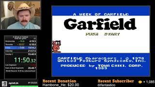 A Week of Garfield (Famicom) speedrun in 33:36 by Arcus
