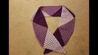The Topsy Turvy Triangle Scarf Crochet Tutorial!