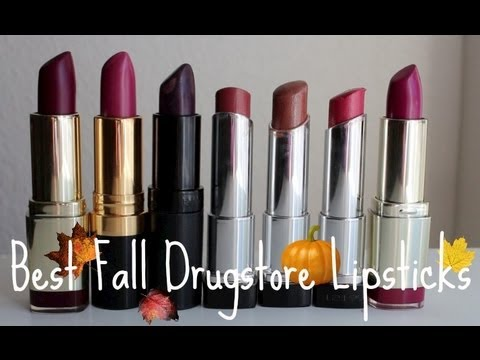 Best Fall Drugstore Lipsticks - YouTube
