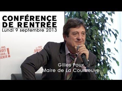 Conférence de rentrée de Gilles POUX, maire de La Courneuve.