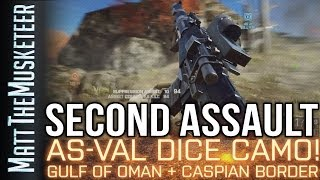 Battlefield 4 | AS-VAL DICE CAMO! | GULF OF OMAN SANDSTORM! SECOND ASSAULT XBOX ONE