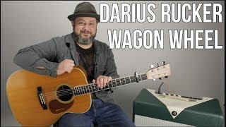 Wagon Wheel Darius Rucker Easy Acoustic Guitar Tutorial + Lesson