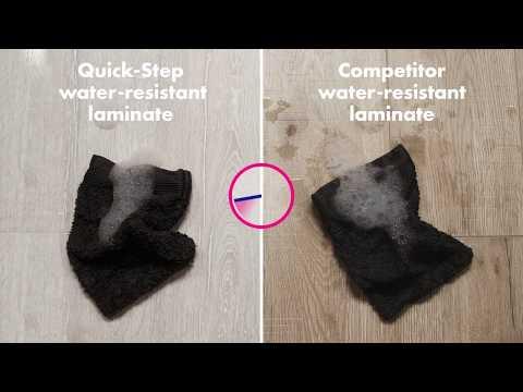 Water-resistant laminate floors   Quick-Step