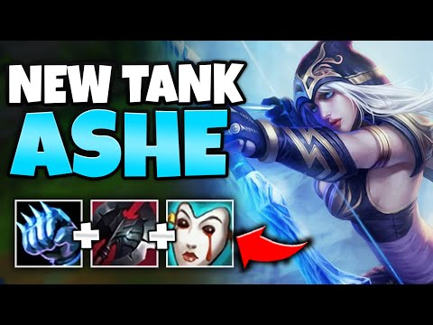 *BUFFED* TANK ASHE TOP JUST TURNED HER INTO A TOP LANE BULLY! (PERMASLOW) - League of Legends