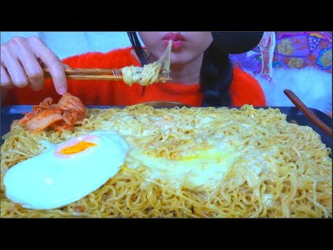 ASMR CHEESY INDOMIE INSTANT NOODLES   NO TALKING   EATING SOUNDS