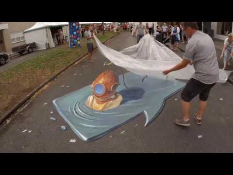 "3d street painting ""Inflate"""