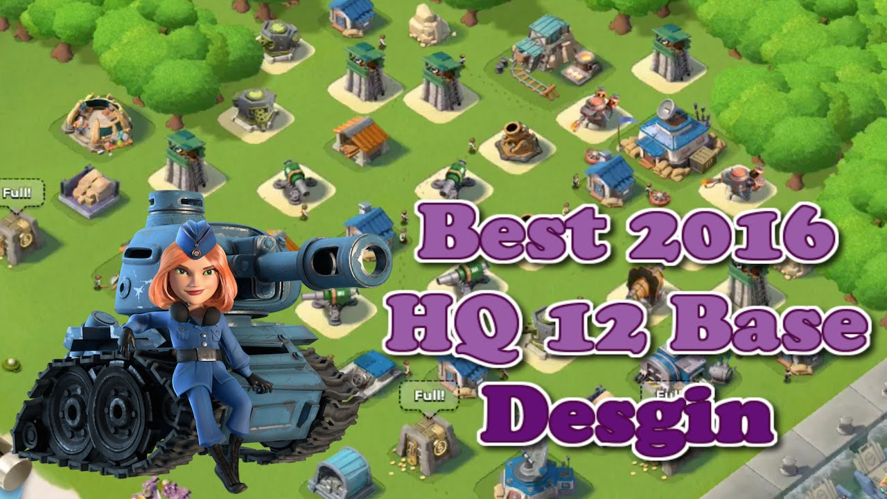 boom beach - best 2016 headquarters 12 (hq 12) base layout/design