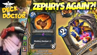 Priest Is Better at DH Than We Are!! CMON ZEPHRYS - Deck Doctor w/ Zalae | Firebat Hearthstone