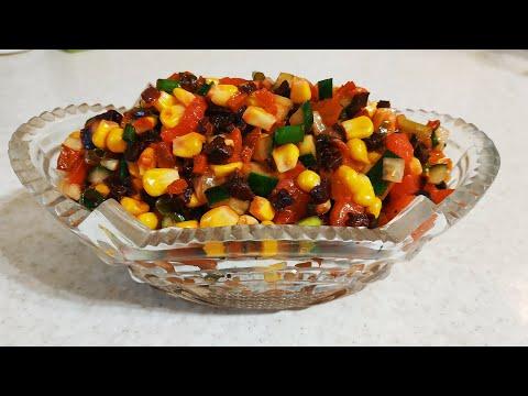 Вкусно из овощей! Салат для тех, кто на диете и на посту!