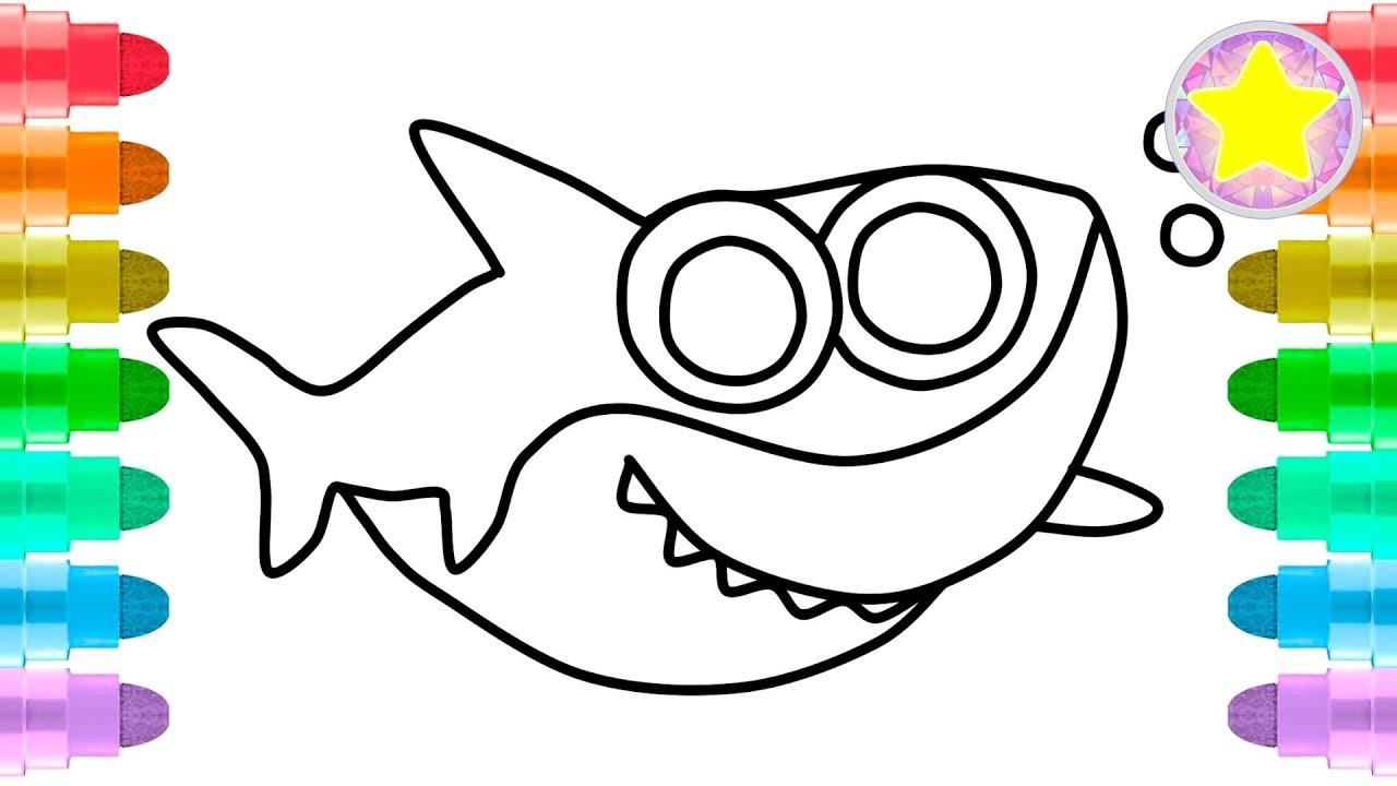 Baby Shark Coloring Pages - Ofertasvuelo