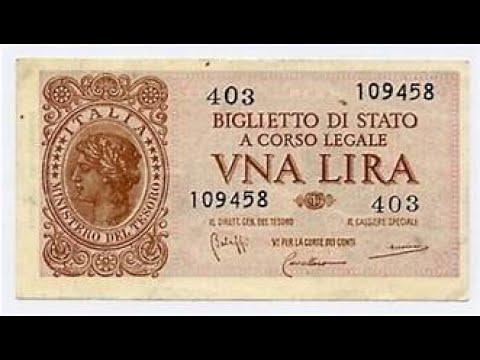 Banconota 1 Lira Regno D'Italia - Il Suo Valore Può Arrivare Fino A 2000 Euro
