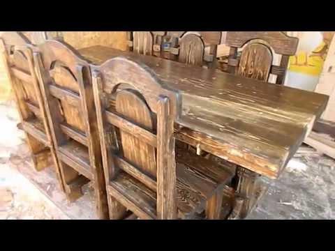 Декоративная мебель из массива дерева