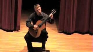 JS Bach:  Minuets I and II, BWV 1007 (Christopher Davis, guitar)
