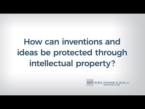 How can inventions and ideas be protected through intellectual property?