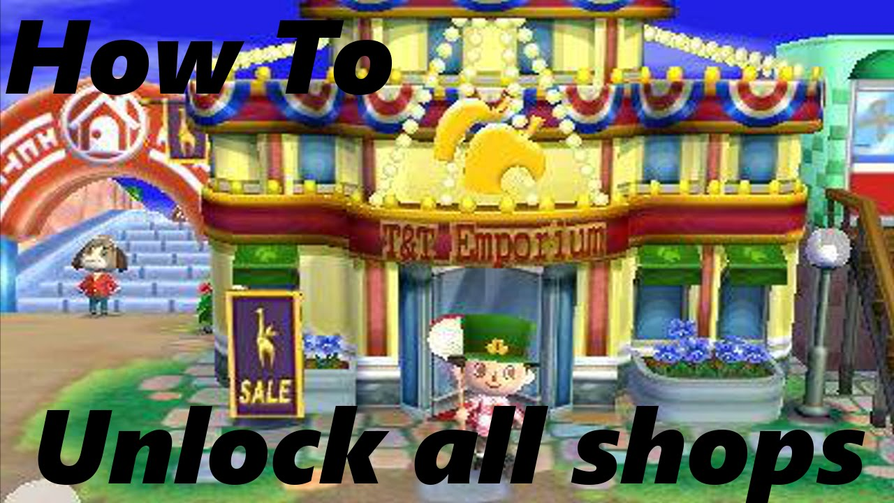 How To Unlock All The Shops In Acnl Funnycat Tv