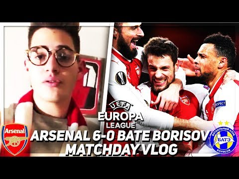 CAN'T COMPLAIN ABOUT THAT!!! Arsenal 6-0 BATE Borisov Match Day Vlog | 💥AFTV Young Gunz💥